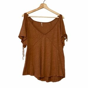 Free People XS Brown Blouse